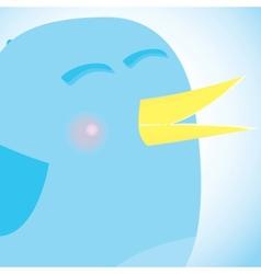 Social network blue bird media concept vector image vector image