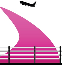 airport with a plane on a color vector image