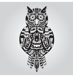 Beautiful ornamental owl graphic vector image vector image