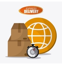 Delivery design shipping logistic vector image vector image