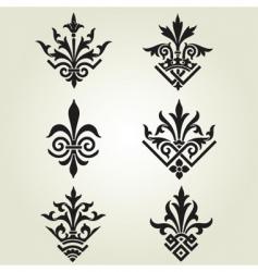 ornament elements vector image vector image