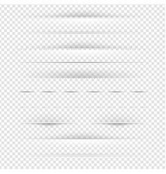 set of dividers set vector image