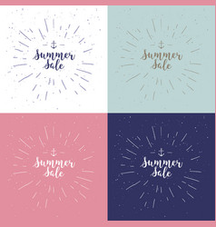 summer sale set drawn lettering summer vector image vector image