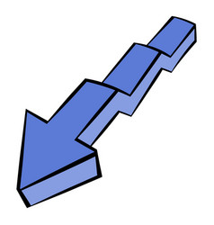 broken down arrow icon icon cartoon vector image