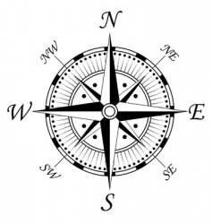 compass symbol vector image vector image