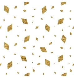Geometric grunge gold seamless pattern of rhomb vector