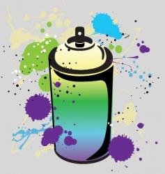 grafitti spray can vector image vector image