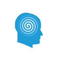 head with spiral logo symbol vector image