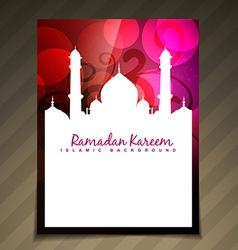 islamic template vector image vector image