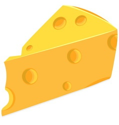 Piece of cheese vector image vector image