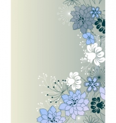 stylish floral grey background vector image