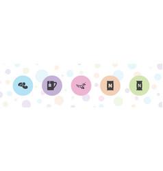 5 bean icons vector