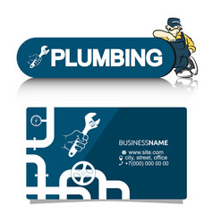 A business card for the plumber vector