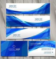 Abstract set of web banners and business cards vector