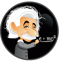 Albert einstein editorial cartoon vector