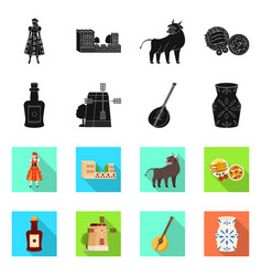 And historic icon set of vector