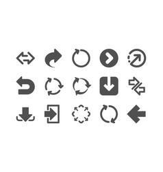 arrow icons download synchronize and share vector image