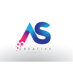 As letter design with creative dots bubble vector
