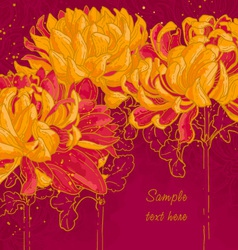 background with chrysanthemum vector image