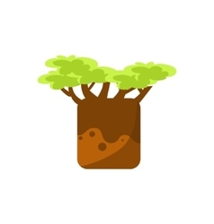 Baobab tree drawing vector