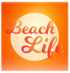 Beach life background vector