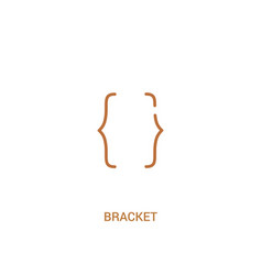 Bracket concept 2 colored icon simple line vector
