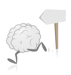 Brain running and direction sign vector