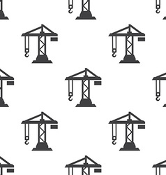 building crane seamless pattern vector image