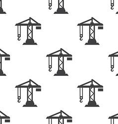 Building crane seamless pattern vector