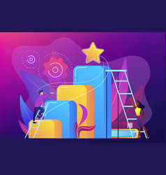 business ambition concept vector image
