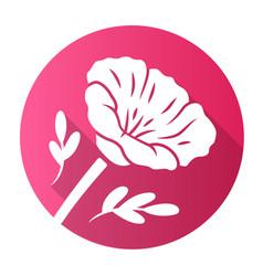 california poppy pink flat design long shadow vector image