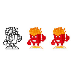 cartoon character american french fries vector image