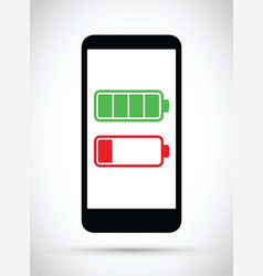 cell mobile phone battery charging icon vector image