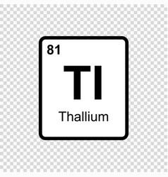 Chemical element thallium vector