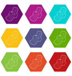 clean pad icons set 9 vector image