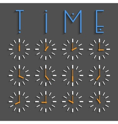 Clocks with transparent shadow vector