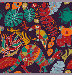 Colorful seamless pattern with australian animals vector
