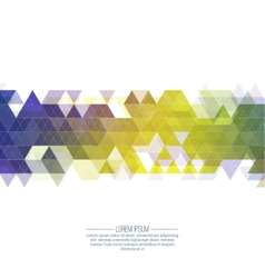 Creative abstract triangle pattern vector image
