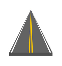 curved and ditrection highway with markings vector image