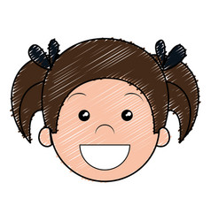 Cute and little girl character vector
