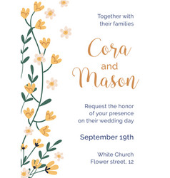 design wedding inviting card with tender vector image