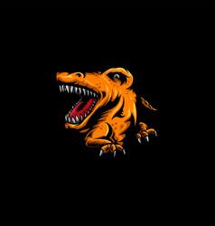 dinosaur carnivore logo icon vector image