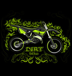 dirt bike eps 10 vector image