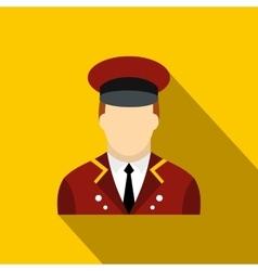 Doorman flat icon vector image