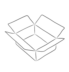 Drawing of box vector image