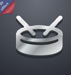 drum icon symbol 3D style Trendy modern design vector image