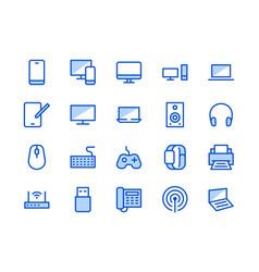 electronics technology store blue line icon vector image