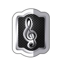 emblem music symbol icon vector image