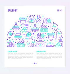 Epilepsy concept in half circle vector