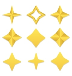 Four point stars collection vector image